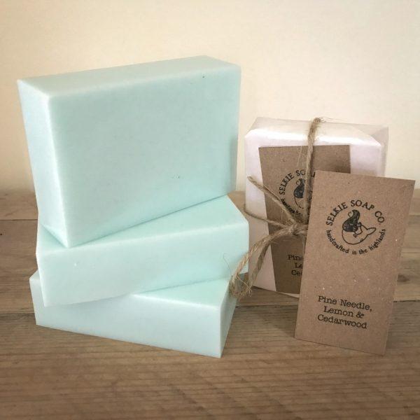 pine cedarwood lemon soap